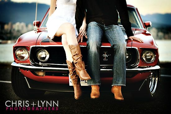 Pretty sure my daddy would let me borrow his '66 Mustang so I can have pictures like these :)