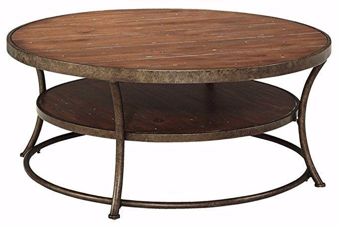 Ashley Furniture Signature Design Nartina Casual Round Cocktail
