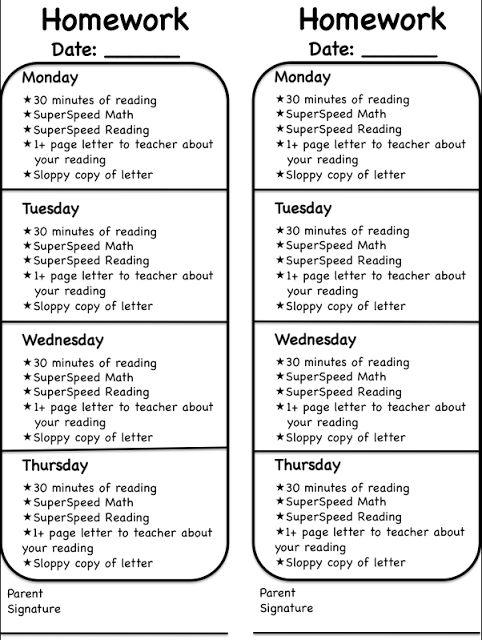 Simply 2nd Resources: WBT Universal Homework Model