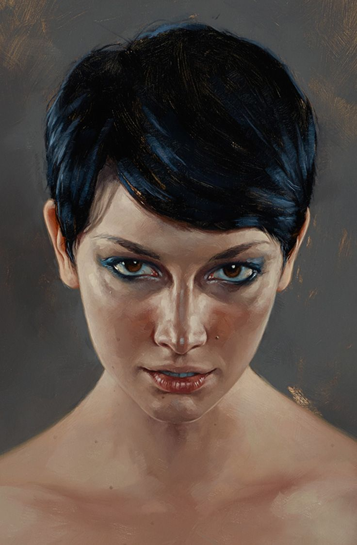"""""""Fifteen"""" - Aaron Nagel, oil on panel {contemporary realism art beautiful female head woman face portrait cropped painting #loveart} aaronnagel[dot]com"""