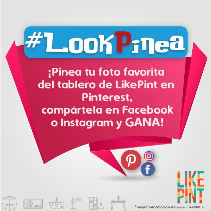 HABEMUS CONCURSO! #LookPinea  ¿Quieres ser parte del primer hito de #LikePint y ganar el premio que más deseas? ¿Cómo? Fácil!  *Abre el link del Pin para saber cómo participar*