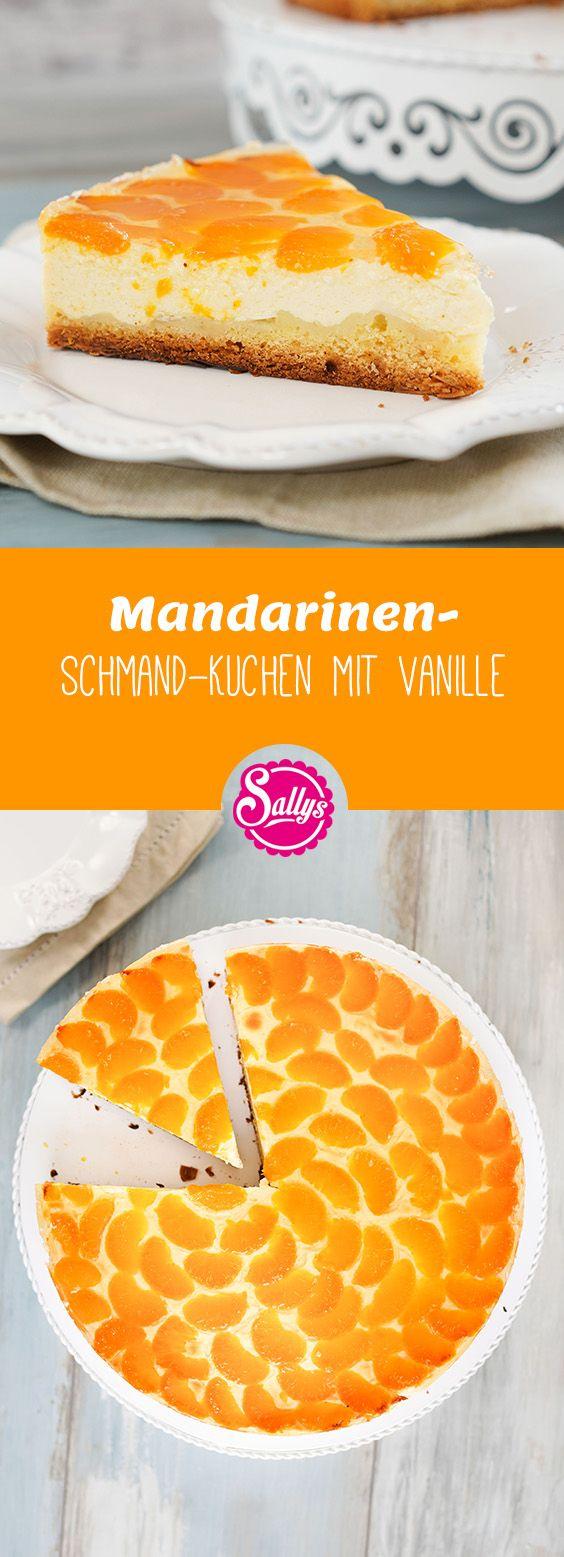 Dieser Kuchen ist wirklich genial: ein einfacher Rührteig, getoppt mit einer Pudding-Creme und Mandarinen und einem transparenten, selbstgemachten Tortenguss.