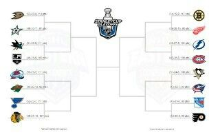2014 NHL playoff bracket... In case anyone was wondering who was in this year.