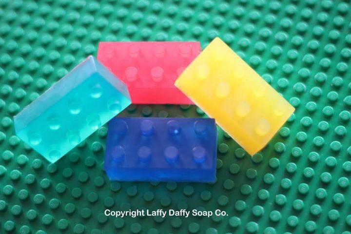 Lego Style soapy bricks