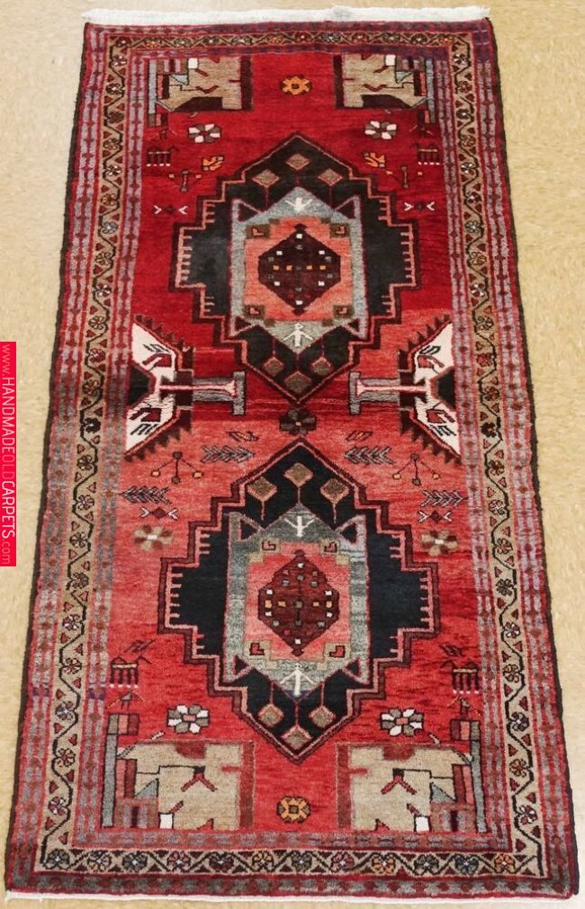 Persian Hamedan Hand Knotted Wool Red Beige Tribal Oriental Rug 3 5 X 6 8 Antiques Rugs Carpets Ebay Http Stores Ebay Com Myconyfineru Rugs On Carpet Room Rugs Beige Carpet