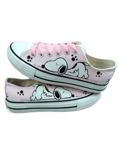 Hand-painted Canvas Flat Shoes For Women