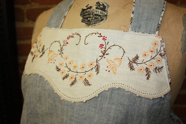 Re-purposing those old embroidered doileys!