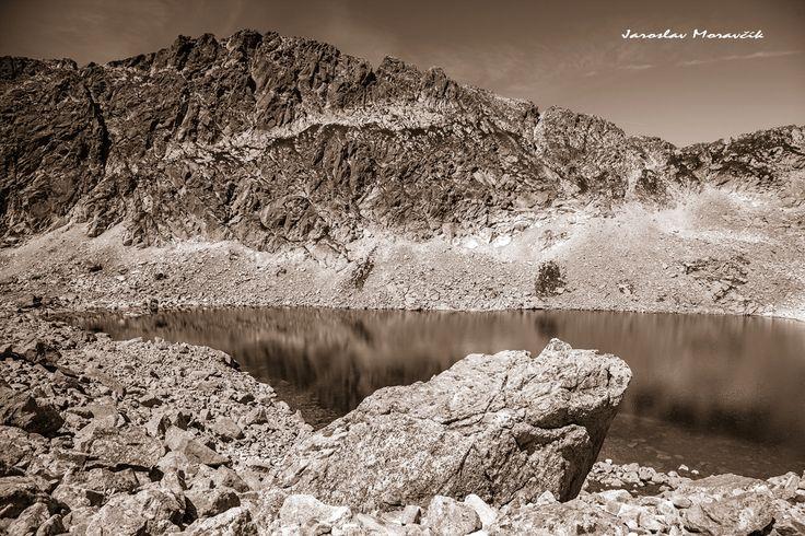 Lake in Furkotska valley in High Tatras mountains, Slovakia