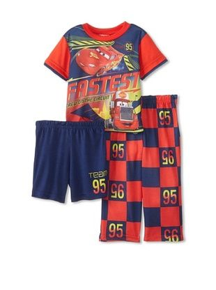 56% OFF Kid's Cars 3-Piece Pajama Set (Red)