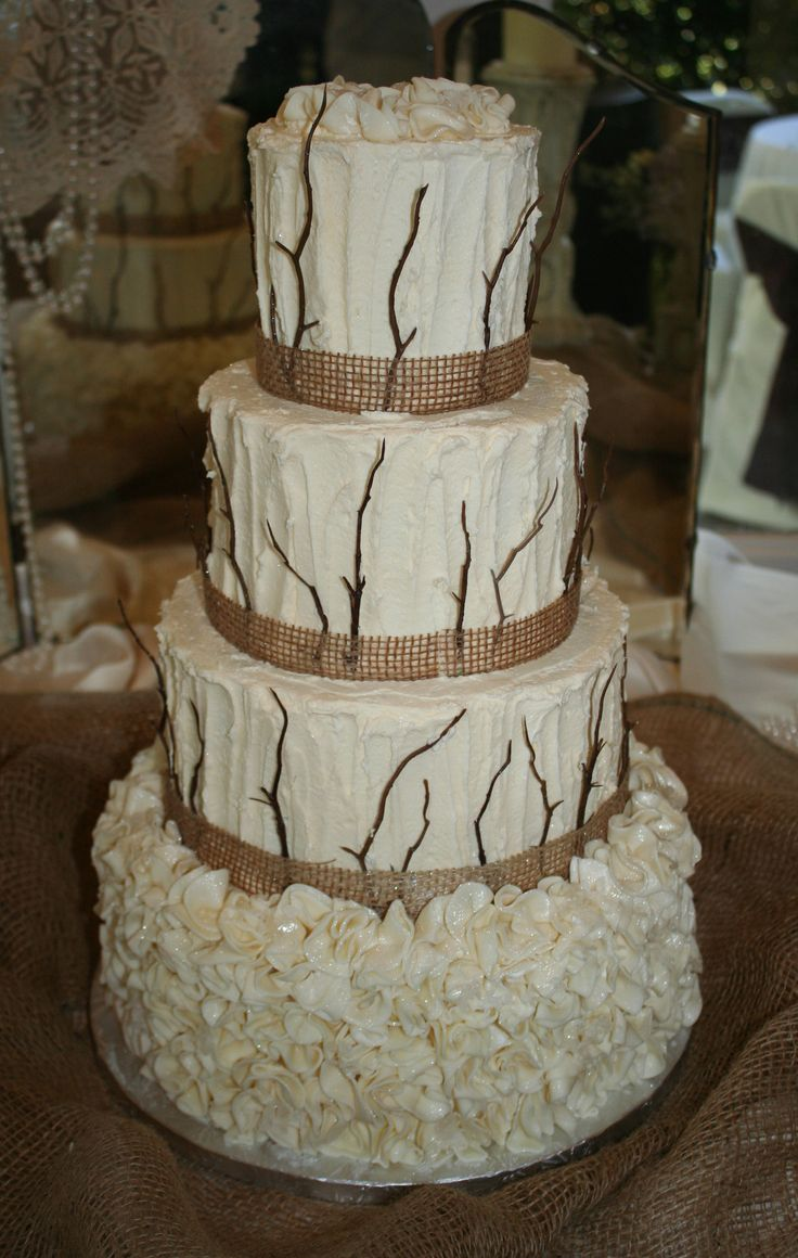 square black and white wedding cakes pictures%0A Country chic wedding cake  Wedding held at Lakeshore Manor  Jackson  GA   blissmcdonough