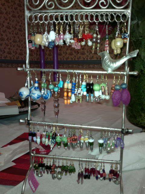 self made unik earrings by ikku /www.helmidesign.webs.com