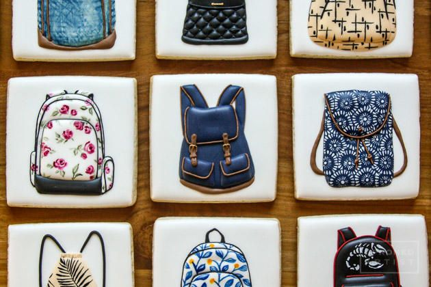 """#COOKIE CONNECTION ALERT: Our latest edition of """"Every Little Detail with Aproned Artist"""" shows how to make darling backpack cookies, just in time for back to school! COOKIES, PHOTO AND TUTORIAL BY APRONED ARTIST!"""