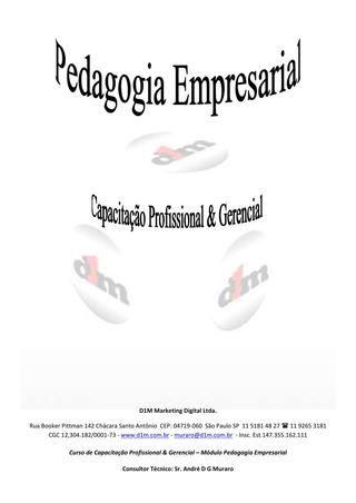 Apostila - Pedagogia Empresarial