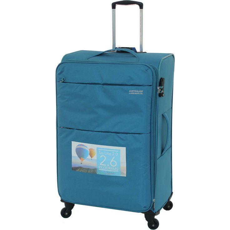 Aus Luggage So Lite 2.0 4 Wheel Suitcase - Teal | Buy 4 Wheel Suitcases