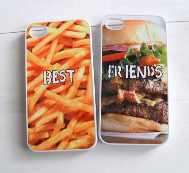 best friend food phone case-I would get the French fries