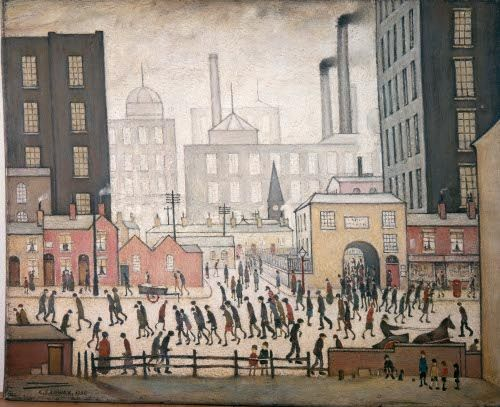 Coming from the Mill, L S Lowry