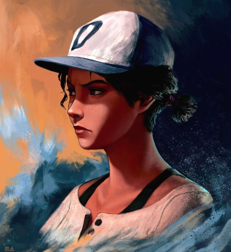 Image result for awesome clementine art the walking dead