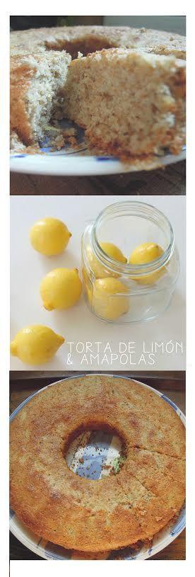 torta integral de limón y amapola #recetas #lemoncake