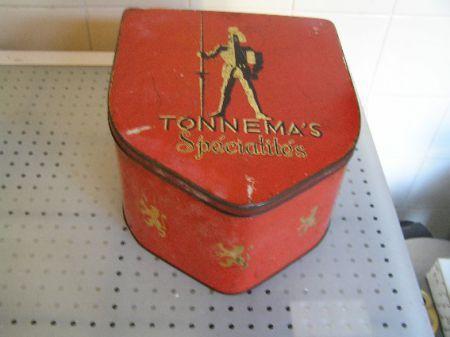 Antiek winkelblik van Tonnema ( King pepermunt )