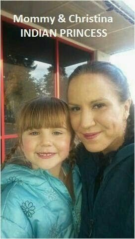 My daughter Christina and me deanna My daughter calls us Indian princesses