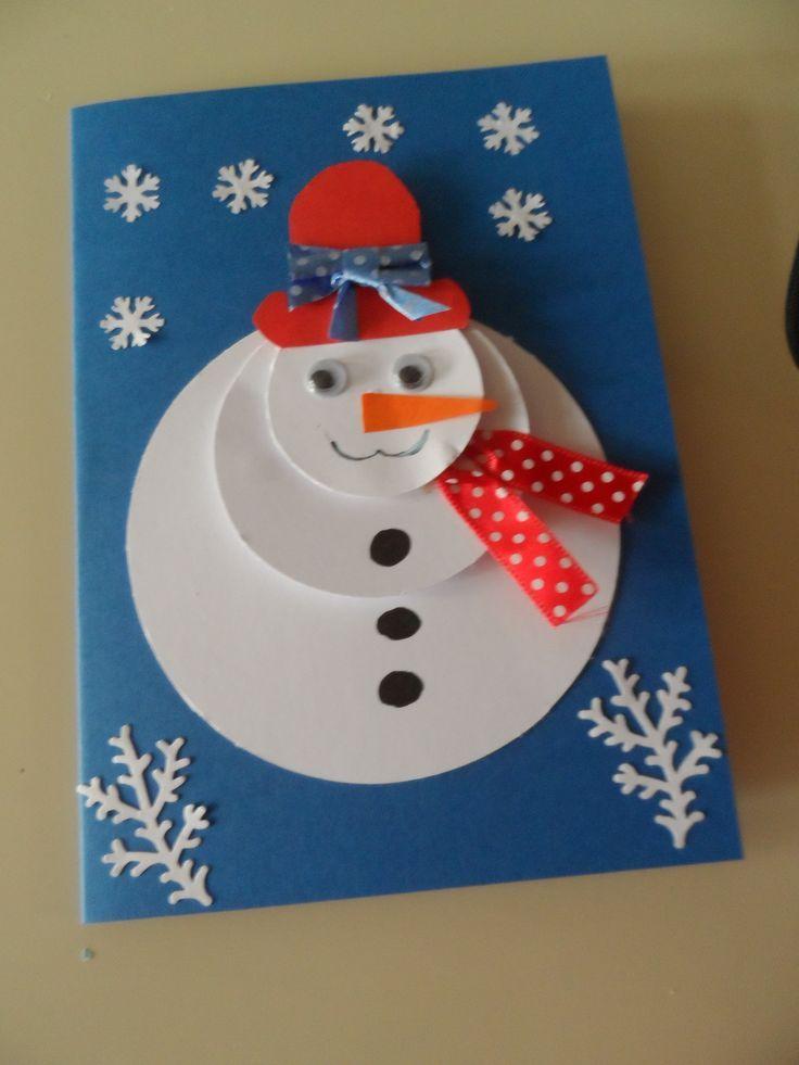 přání sněhulák