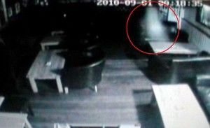 Spooky Pics - Floating Ghost Caught on CC Cam at the Wolfe Pub - SpookyPics.com