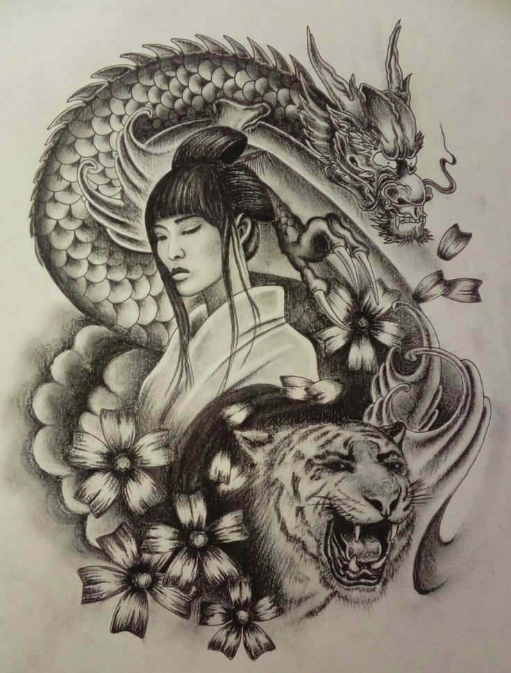 Pin by pave poropat on drawings and tattoos designs de - Tattoos geishas japonesas ...