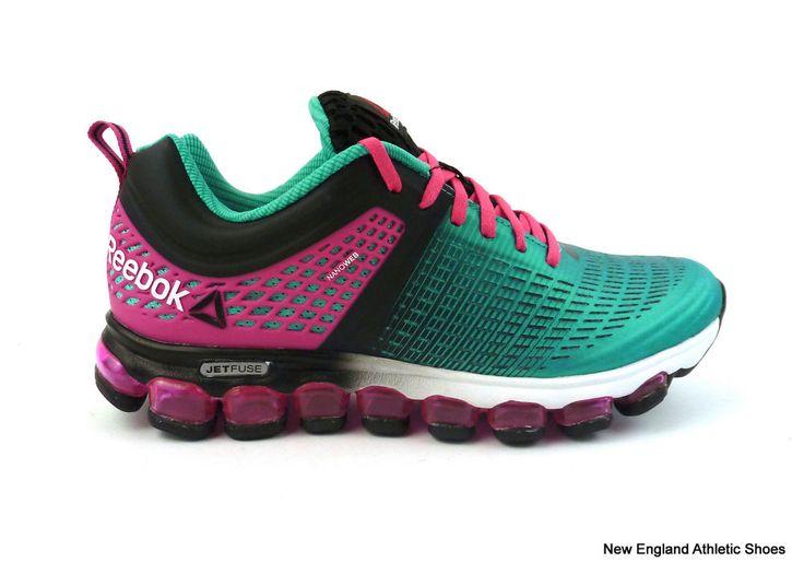3993d45626db Details about Reebok women Z Jet Run running shoes - Black   Teal   Pink   Reebok  Jetfuse ...