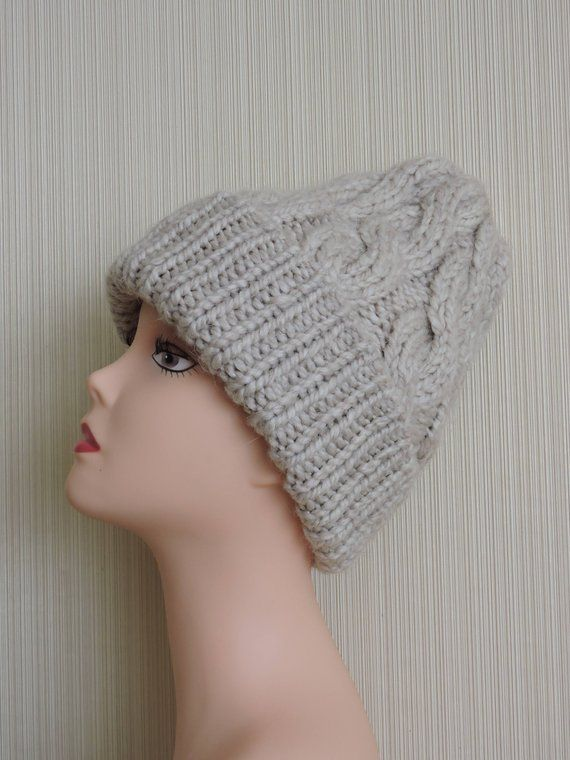 7ba03cfb223 Knitted hat Winter hat Alpaca cap Hat of wool New model of the ...