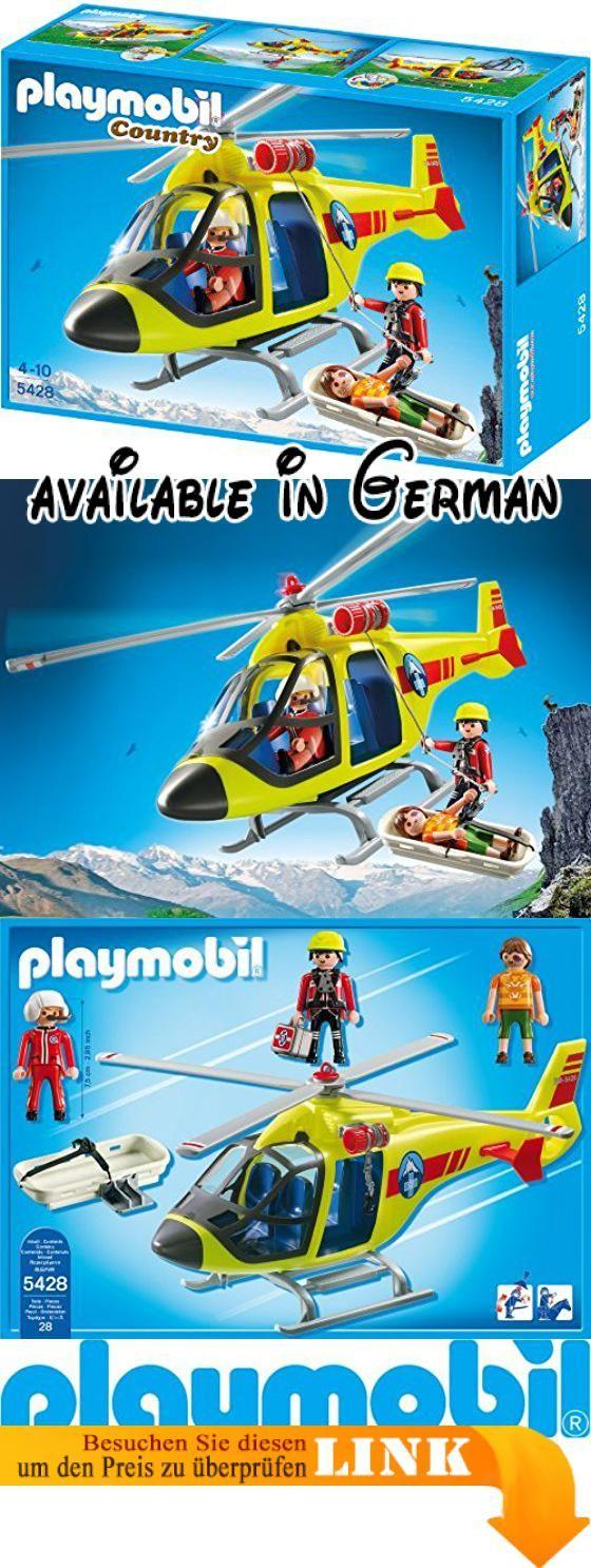 PLAYMOBIL 5428 - Helikopter der Bergrettung. PLAYMOBIL ist ein eingetragenes Warenzeichen von geobra Brandstätter Stiftung & Co. KG.. Warnhinweis: Nicht geeignet für Kinder unter 3 Jahren, wegen Erstickungsgefahr durch Kleinteile. #Toy #TOYS_AND_GAMES