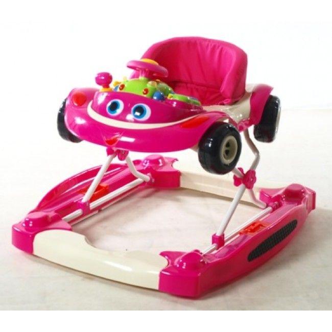 2ME Leke-og-Gå stol Rasmus, Pink fra Gobaby. Om denne nettbutikken: http://nettbutikknytt.no/gobaby/