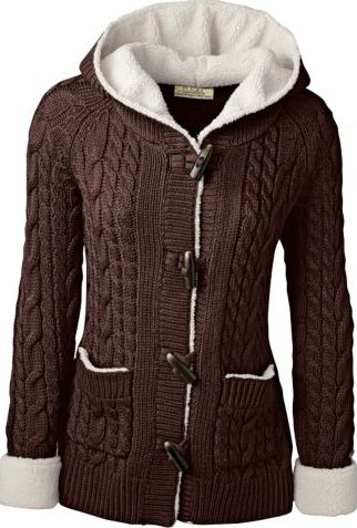 Cabelas cozy fleece and knit sweater coat