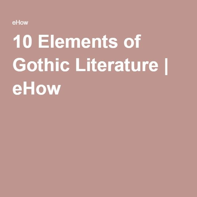 the romantics and the goths essay This essay appears in _gothic technologies_, a volume of _romantic  to  gothic romances, has been reproduced by critics of romanticism virtually ever  since.