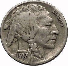 1937 BUFFALO NICKEL 5 Cents of United States of America USA Antique Coin i43899 #ancientcoins https://archeologysmithsoniannumismatics.wordpress.com/2015/11/04/1937-buffalo-nickel-5-cents-of-united-states-of-america-usa-antique-coin-i43899-ancientcoins/