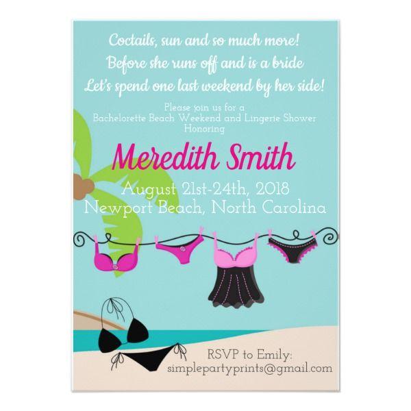Beach Bachelorette Party Invitation Customizable Gifts #beach #summer #party #invitation