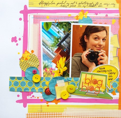I love the bright colors.  Great layout.  Thank you for sharing.