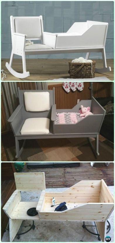 diy rocking chair crib instruction diy baby crib projects free rh pinterest com