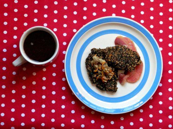 Welsh laverbread breakfast