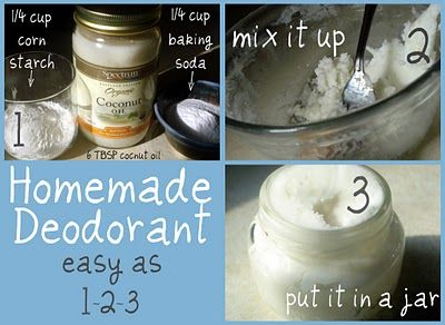 Homemade deodorant...hmmmm...I wonder if this would work.?  Anyone ever tried this?