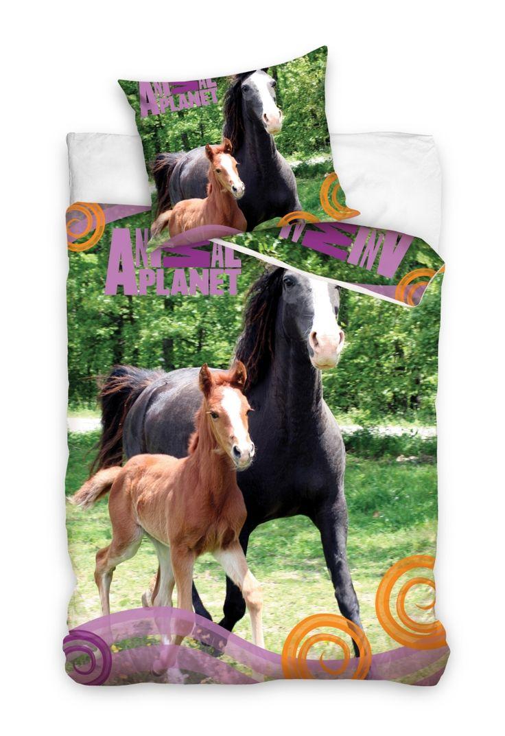 Ložní povlečení s motivem koní
