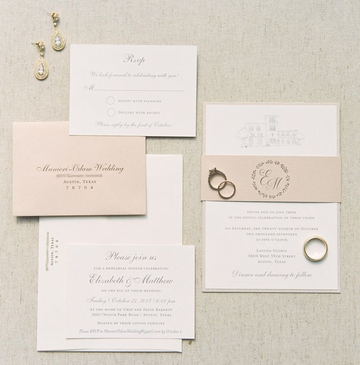 Wedding invitation set by The Inviting Pear