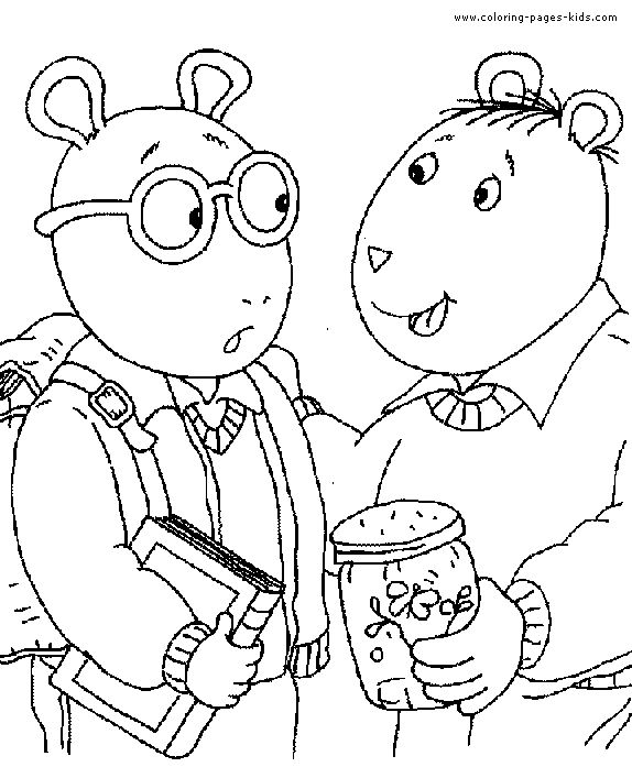 coloring pages arthur and friends - photo#3