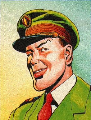 """Dan Dare. Pilot of the Future. Duncan:""""The Eagle comic, printed on glossy paper, seemed classy and Dan Dare, as the cornerstone character, epitomized the posh hero""""."""
