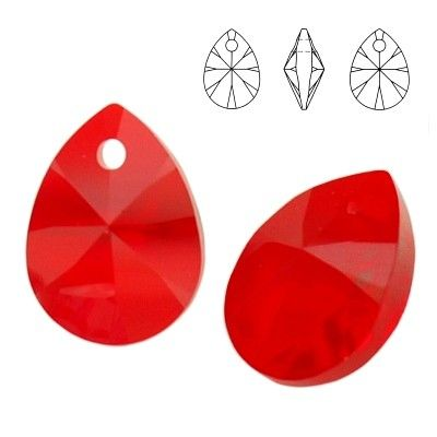 6128 Mini Pear 8mm Light Siam 5 pieces  Dimensions: 8,0mm Colour: Light Siam 1 package = 5 pieces