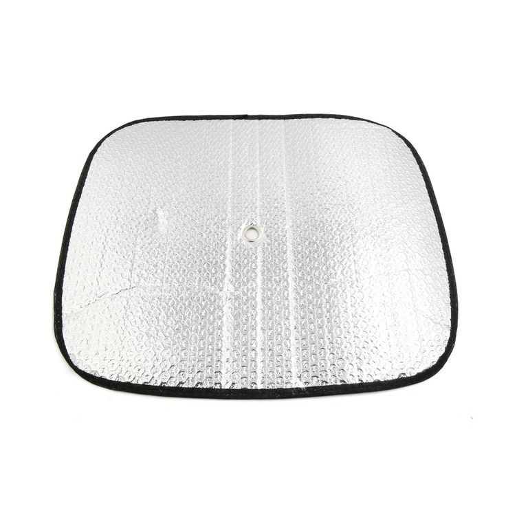 2Pcs Aluminium Foil Front Rear Side Window Sun Shade Screen Visor Shield for Car, Yellow sunshine