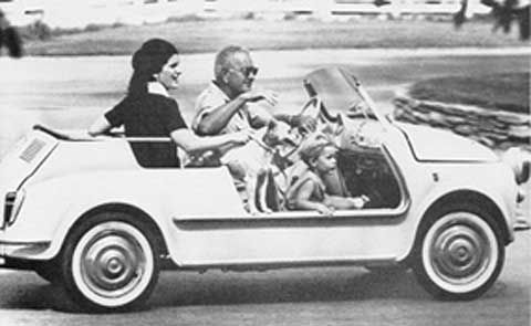 President Johnson had a Fiat Jolly that was provided by the U.S. Park Service.