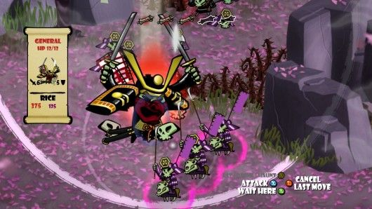 Turn-based, strategy game, Skulls of the Shogun, a modern day version of chess that is strategic and challenging.