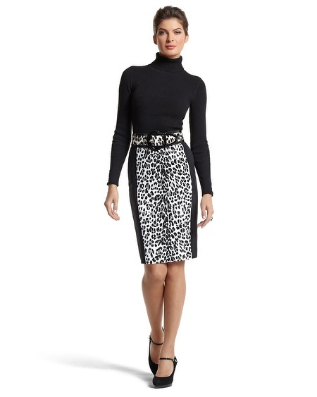 LEOPARD/BLACK STRIPE PENCIL SKIRT: White House Black Market, White Houses, Dress Skirt, Black Dresses, Leopard Black Stripe, Pencil Skirts, Black Leopard, Black Stripes