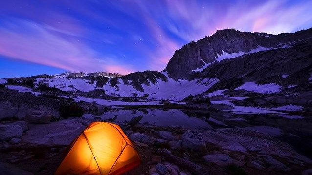 Tent in the mountains: 5 star hotel vs. 5 million star hotel. easy choice right? #trekking #tent #camping #travel #kilroy