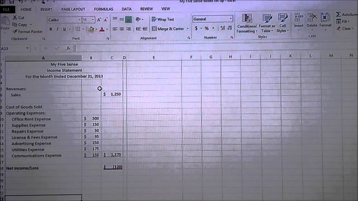 How to set up your accounting books in less than one hour - Part I in Excel